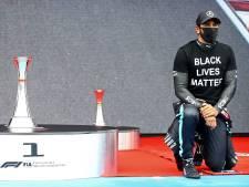 Tegenwind voor strijdende Hamilton: 'Wie heeft het recht om te vragen waarom ik wel of niet kniel?'