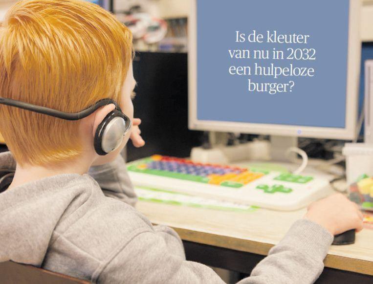 Volgens filosoof Peter Sloterdijk is de belangrijkste functie van een school het bieden van 'tussenruimte', 'vrij van openbare bezigheden'. Beeld Isabel Nabuurs/HH