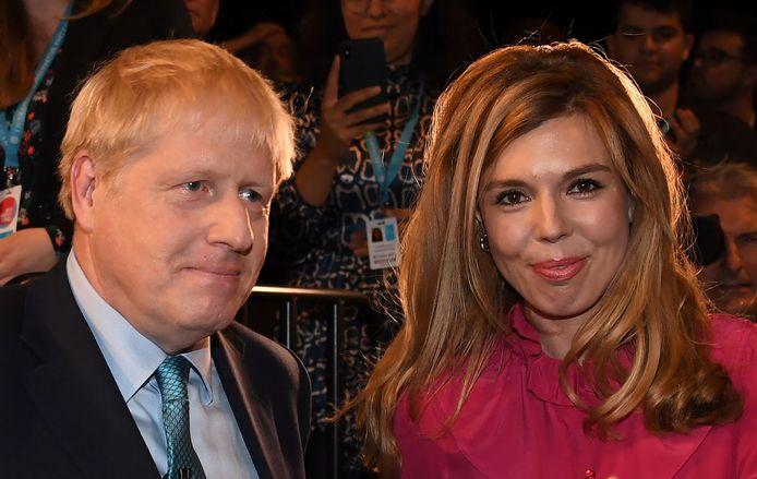 Boris Johnson en zijn vriendin Carrie Symonds begin oktober vorig jaar.