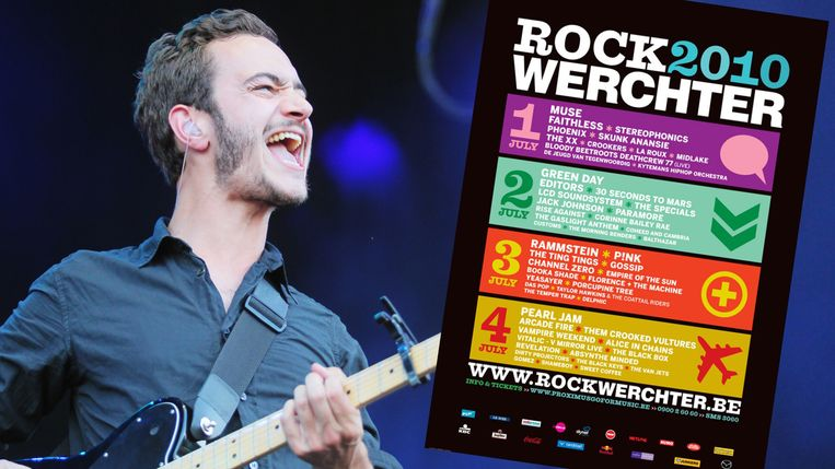 Editors op Rock Werchter 2010.