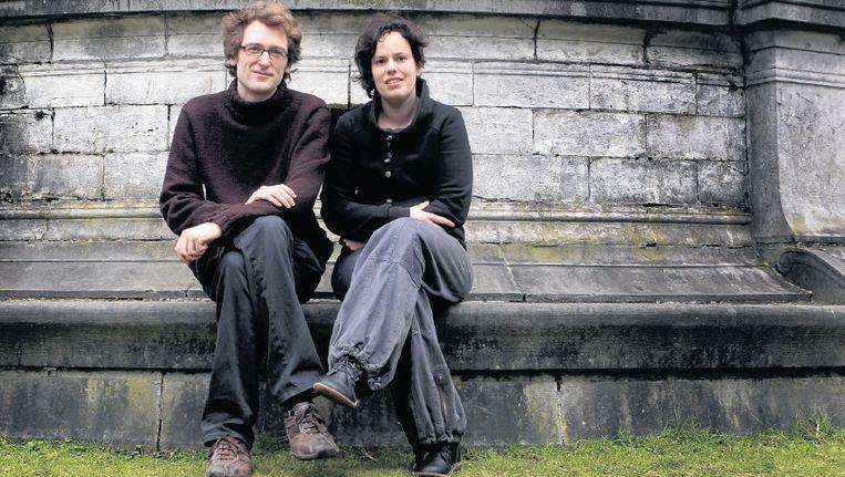Anneleen Kenis en Matthias Lievens. Hun activistische toon kan burgers en instellingen die oprecht bezig zijn met klimaatverandering afschrikken. Beeld ANP