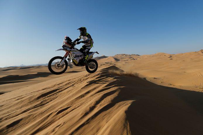 Paul Spierings tijdens etappe 2 van de Dakar Rally 2021.