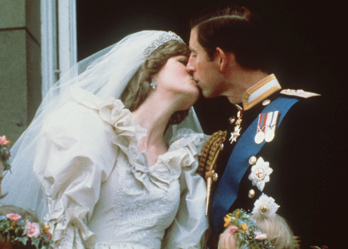 Diana en Charles op hun trouwdag in 1981