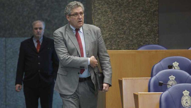 Fractievoorzitter Henk Krol van 50Plus tijdens het vragenuurtje in de Tweede Kamer. Beeld anp