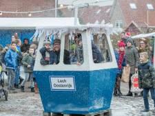 Plaatselijk sneeuw op winterfair in Oostdijk