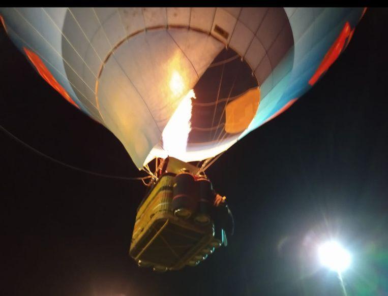 De ballon steeg op om 6 uur in de Ardennen, in het dorpje Vencimont.