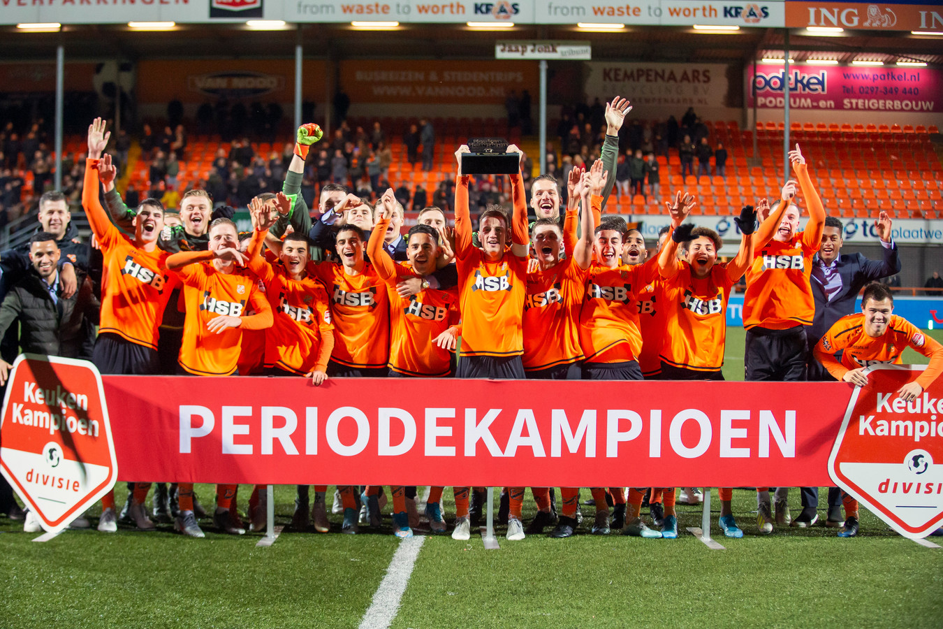 Volendam won de tweede periodetitel.