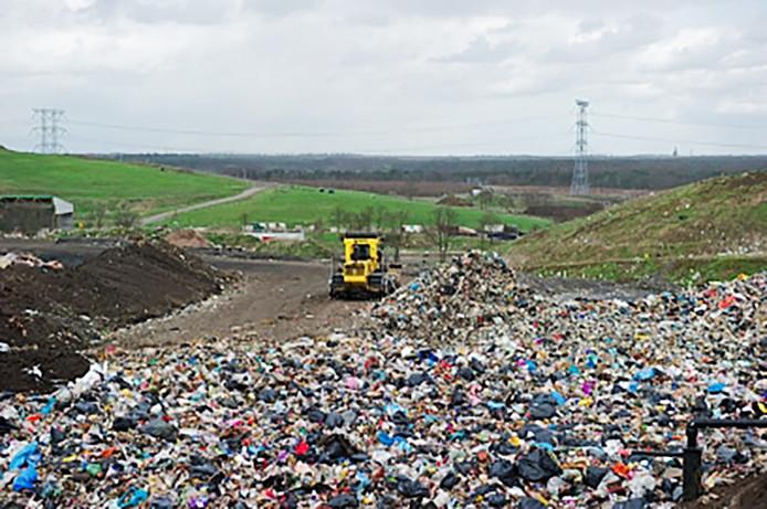 De afvalstortlocatie van Attero bij Tilburg