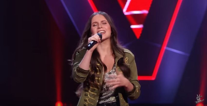 Nikita tijdens the blind auditions.