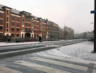 Leuven wordt wakker onder licht sneeuwtapijt