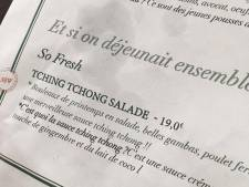 """""""Tching tchong salade"""": un restaurateur s'excuse pour le nom d'un plat"""