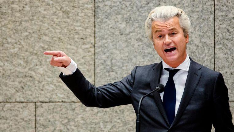 PVV-leider Wilders. Beeld anp