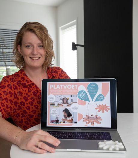 Berdien uit Kampen wint niet de Hema- ontwerpwedstrijd, maar er is genoeg belangstelling voor haar 'Platvoet'