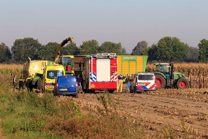 Jager gewond door ongeval met hakselaar in Lieshout.