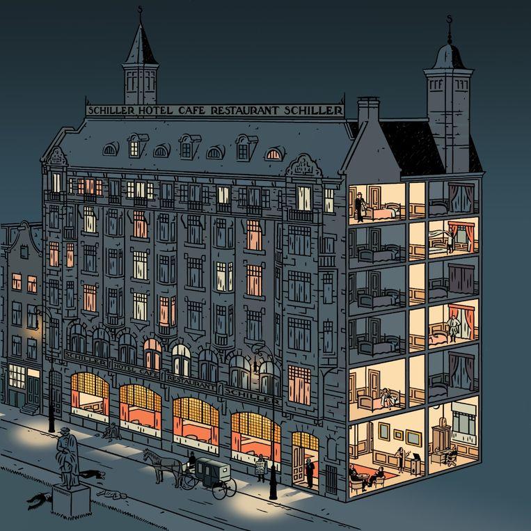 Hotel Schiller is veranderd, maar nog altijd een hotel. Beeld TRBEELD