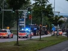 Tientallen boeren op tractoren tegengehouden door politie en weggestuurd uit Nijmegen