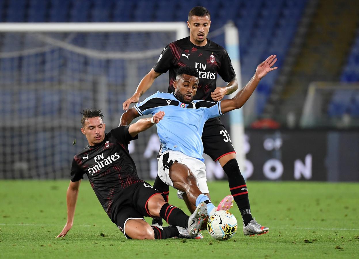 Djavan Anderson in actie in het duel met AC Milan.
