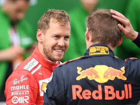 Vettel over knipoog Verstappen: 'Ik ben te oud voor deze onzin'