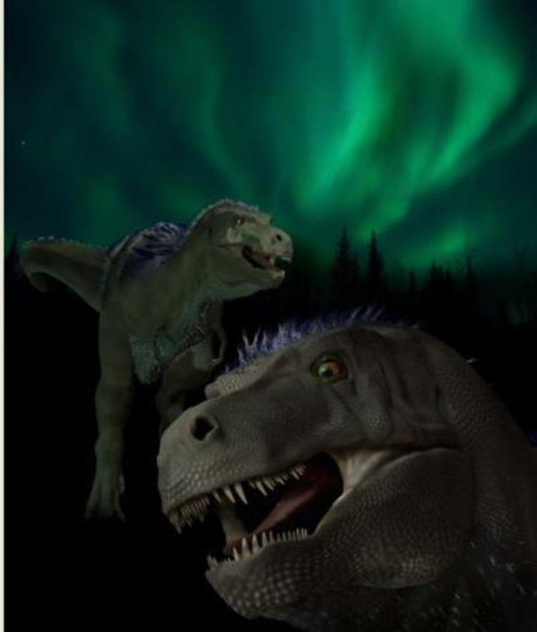 Artist's impression van de Nanuqsaurus hoglundi. Beeld Karen Carr