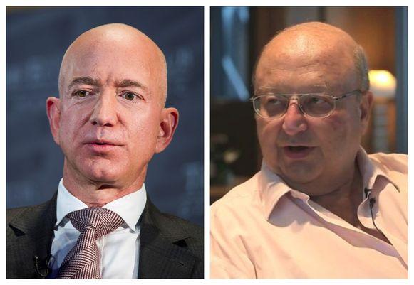 Amazon-topman Jeff Bezos (L) blijft de rijkste mens op aarde, Eric Wittouck (R) is de enige Belg op de 168ste plaats.