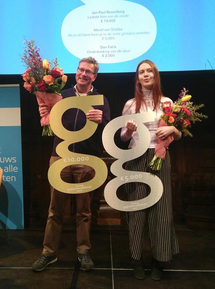 Jean-Paul Rosenberg uit Zeist heeft de Turing Gedichtenwedstrijd 2017 gewonnen. De Nijmeegse Merel van Slobbe werd tweede.
