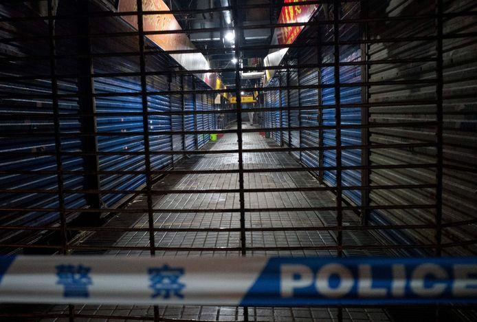Le marché au poisson de Wuhan a été fermé peu de temps après l'apparition de la maladie.