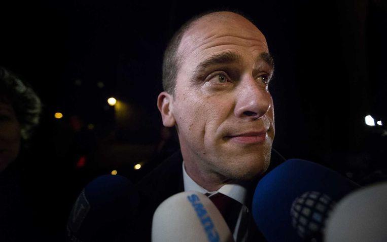 PvdA-leider Samsom vannacht na het crisisberaad. Beeld anp