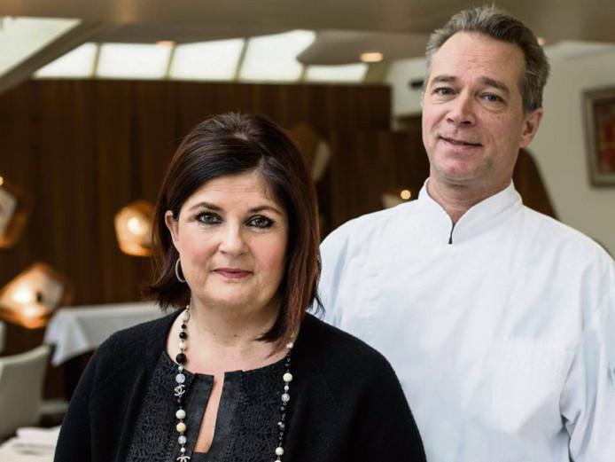 Claudia en Jannis Brevet, gastvrouw en chefkok van Inter Scaldes. foto Mechteld Jansen