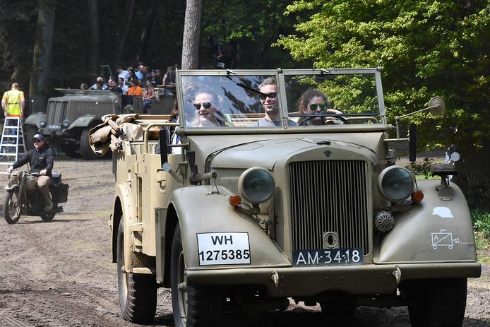 Overloon: 18-05-2019; DG_Foto.Militracks, de 10de keer dat dit evenement wordt gehouden. Vooral het meerijden met oude voertuigen uit de 2e wereldoorlog is in trek.Foto: Ed van Alem