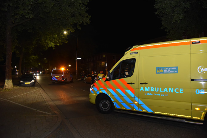 Ongeval aan de Groenestraat in Nijmegen.