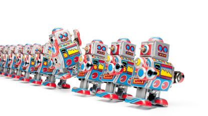Robots maken bij jeugddienst
