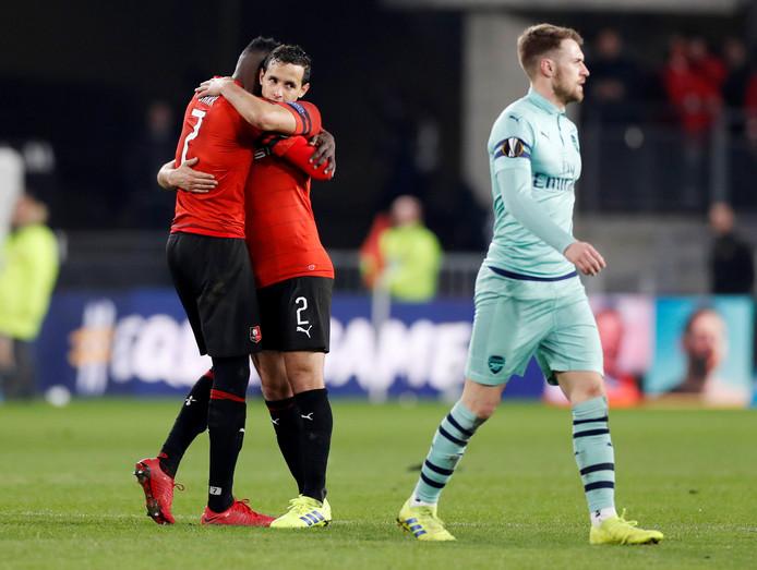 Stade Rennes viert feest, Arsenal treurt.