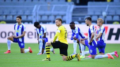 IN BEELD. Dortmund en Hertha maken statement tegen racisme
