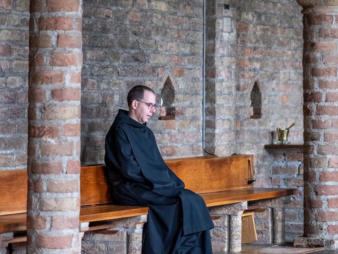 Broeder Thomas Quartier, bewoner van het klooster in de bossen van Slangenburg bij Doetinchem.