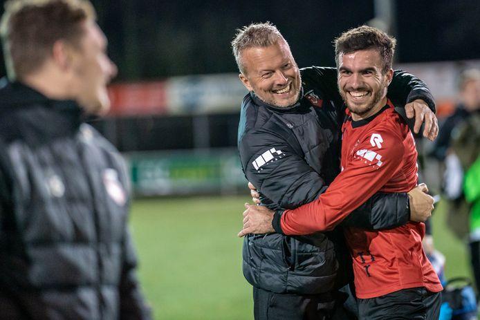 Vreugde bij Luke Roelofs begin dit jaar: SC Bemmel verslaat RKHVV.