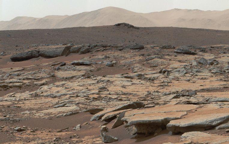 Het Mars-oppervlak.