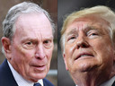 Michael Bloomberg et Donald Trump.