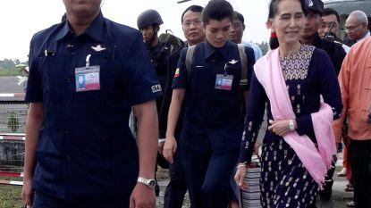 Aung San Suu Kyi bezoekt Rohingya-gebied