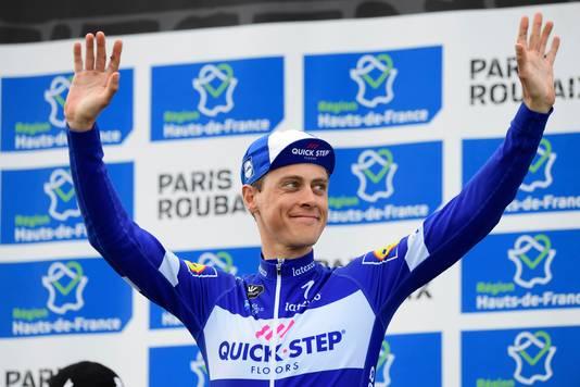 Niki Terpstra werd derde in Parijs-Roubaix