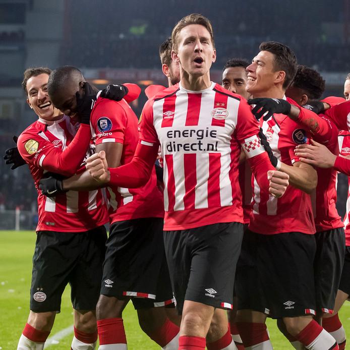 Luuk de Jong maakte vorig jaar de eerste treffer tijdens de zege van PSV op FC Utrecht.