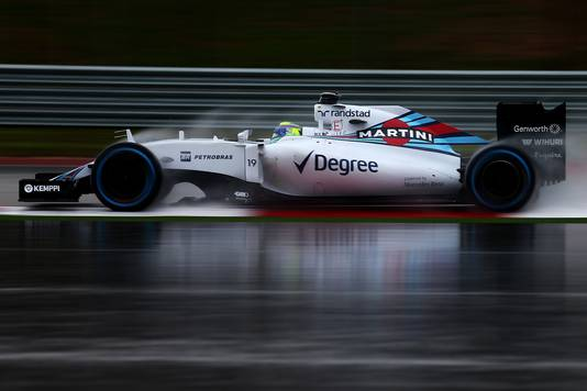 Felipe Massa tijdens de kwalificatie van de GP van Amerika.