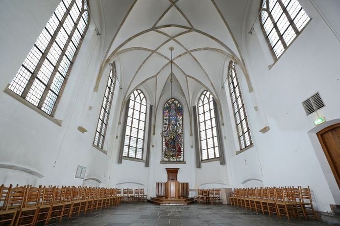 De grote kerk van Wageningen op archiefbeeld.