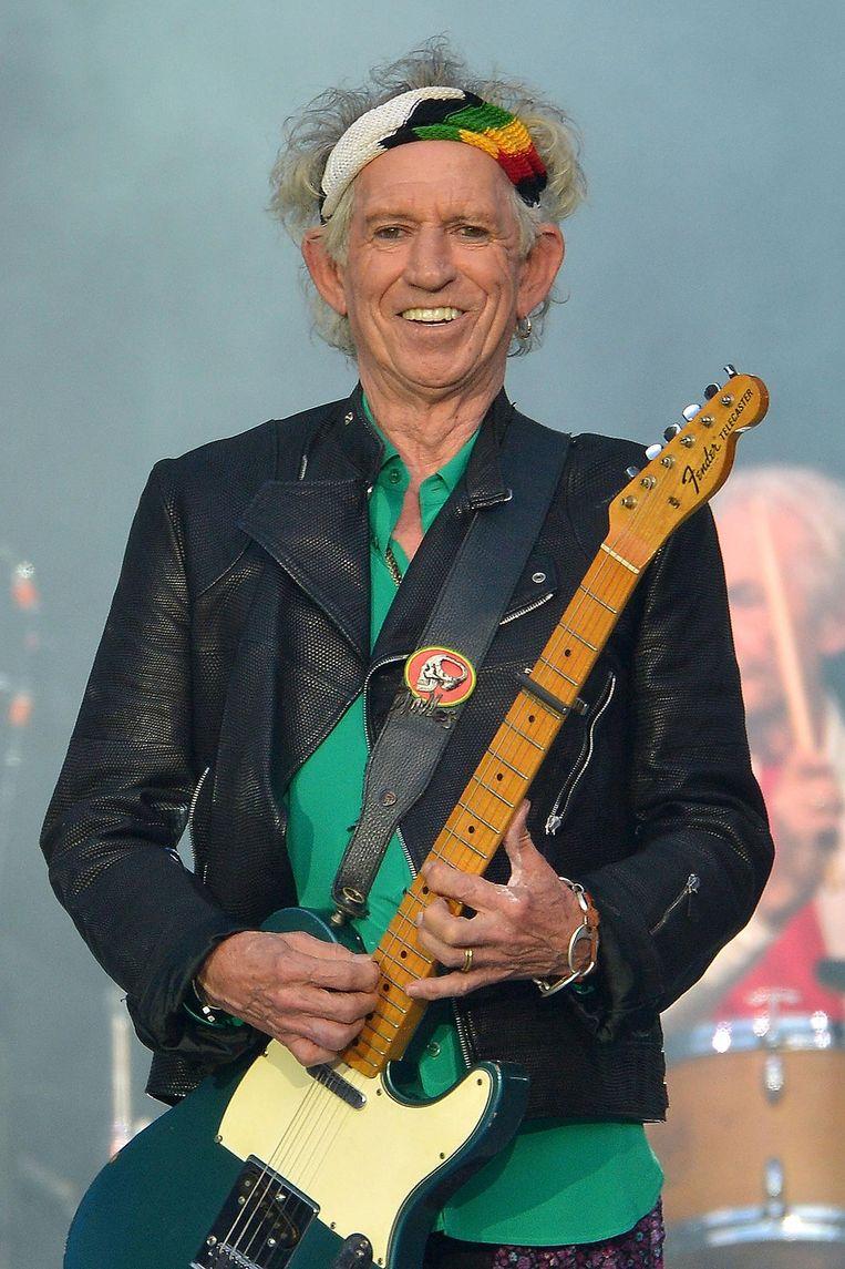 Met Stonesgitarist Keith Richards vocht Jagger ettelijke ruzies uit Beeld Getty Images