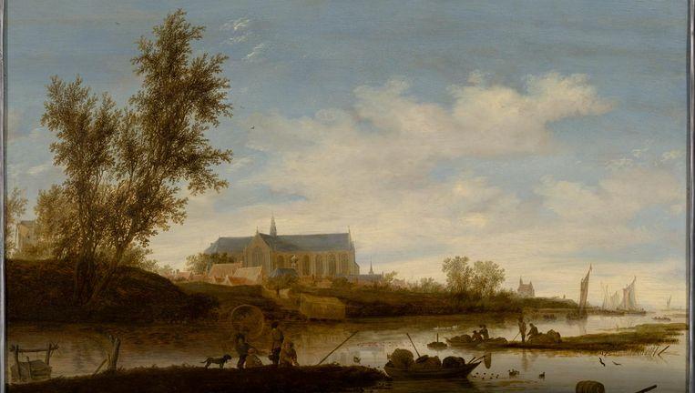 Het Stedelijk Museum Alkmaar heeft Gezicht op de Grote of Sint-Laurenskerk van Alkmaar vanuit het Noorden van Salomon van Ruysdael gekocht Beeld Margareta Svensson, Amsterdam