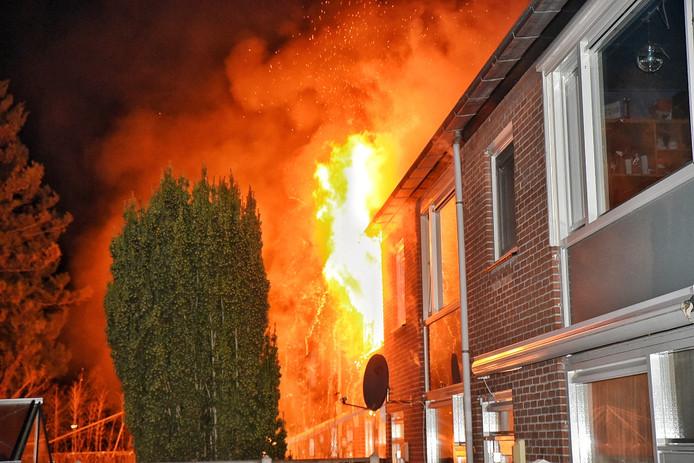 Uitslaande brand in Tilburg