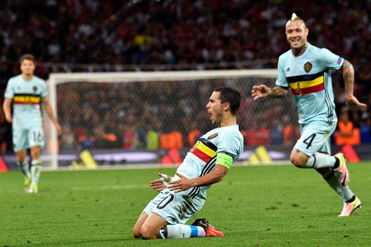 België gaat door naar de kwartfinale op het EK 2016 na een 4-0-overwinning tegen Hongarije. Eden Hazard speelt een geweldige match en helpt de Duivels met een doelpunt aan de winst.