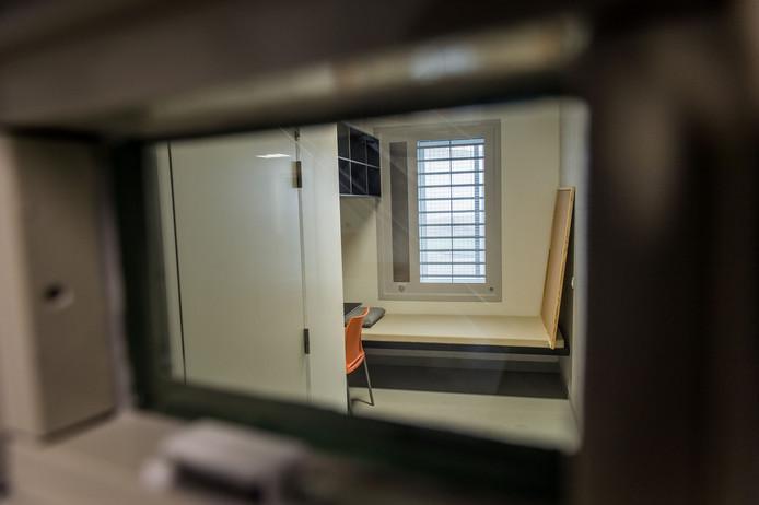 Het interieur van de Belgische gevangenis in Beveren, dat vlakbij Antwerpen ligt. Foto: Jonas Roosens