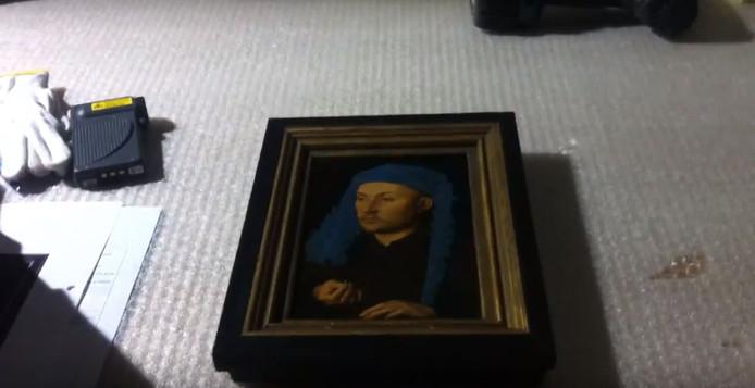 Man met blauwe tulband van Jan van Eyck