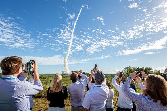 De Ariane 5-raket wordt in juli 2018 vanaf Frans-Guinea de ruimte ingeschoten met vier Galileo-satellieten aan boord.
