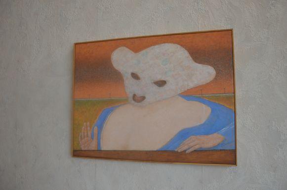 'Woman With Mask' van kunstenaar Co Westernik in het RTT-gebouw.